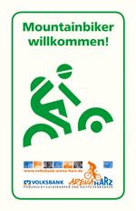 Mountainbiker willkommen